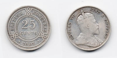 25 cents 1907
