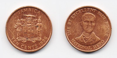 10 cents 1996
